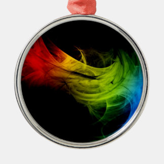 Colored Round Metal Christmas Ornament