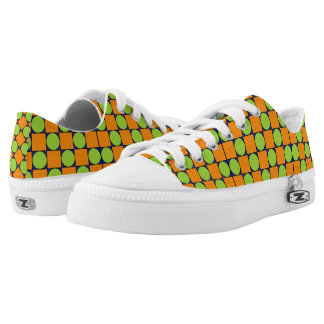Colored Round Square Printed Shoes