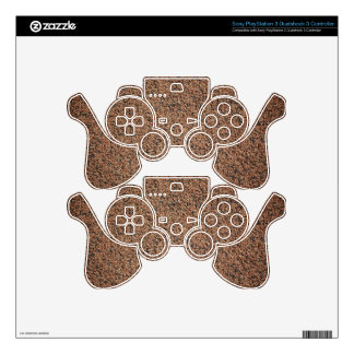 Colored-sand1835 BROWN BLACK COLORED SAND ROCKS PE Skins For PS3 Controllers