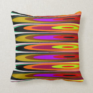 Colored Saucers Throw Pillow