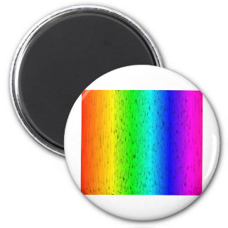 Colored Scratches Rainbow 2 Inch Round Magnet