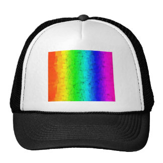 Colored Screen Rainbow Trucker Hat