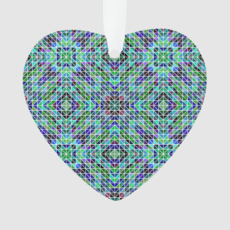 Colored seamless triangle pattern ornament