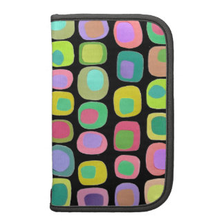 Colored Shapes Black Planners