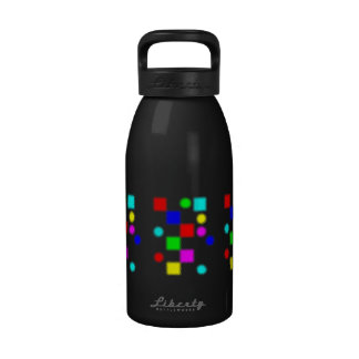 colored shapes drinking bottle