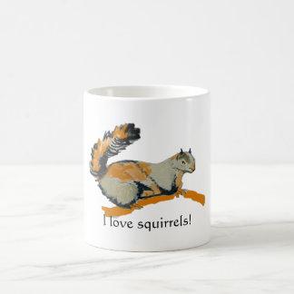 Colored sketch of a Gray Squirrel Coffee Mug
