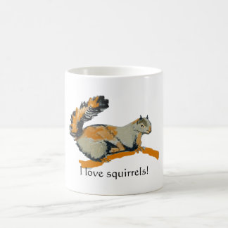 Colored sketch of a Gray Squirrel Classic White Coffee Mug