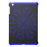 Colored Spike Stars Ipad Case Blue