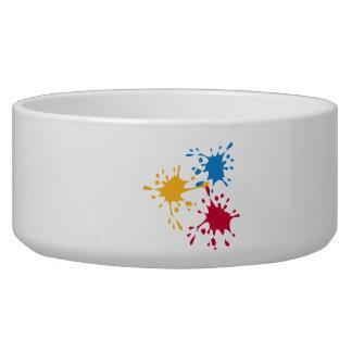 Colored splash painter pet food bowls