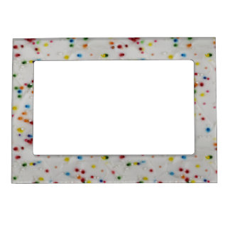 Colored Sprinkles Magnetic Picture Frame