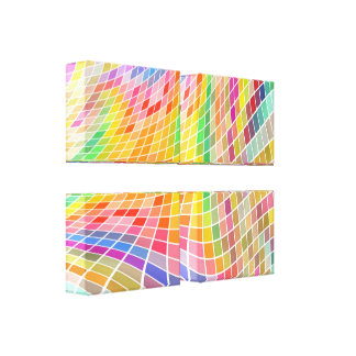 Colored Squares Art-Customizable Wrapped Canvas Gallery Wrap Canvas