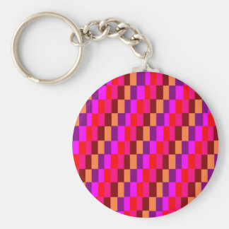 Colored Squares Basic Round Button Keychain