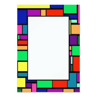 Colored Squares Border 1 Invitation