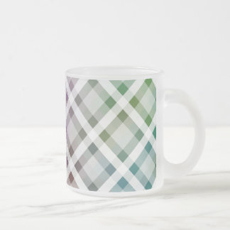 Colored Squares Frosted Glass Coffee Mug