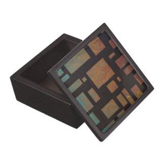 Colored Squares Gift Box Premium Trinket Box
