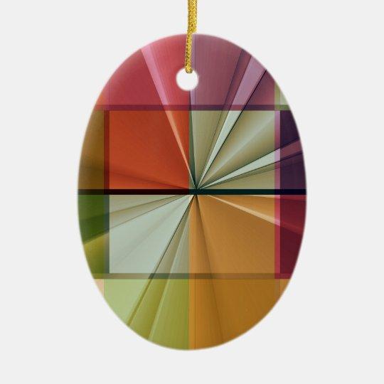 colored squares No 11 by Tutti Ceramic Ornament