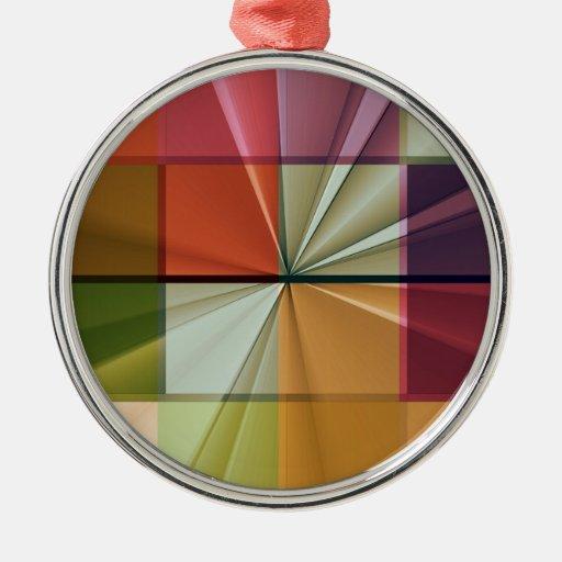 colored squares No 11 by Tutti Metal Ornament