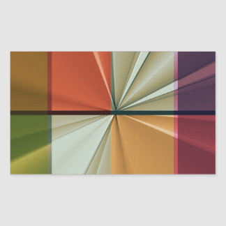 colored squares No 11 by Tutti Rectangular Sticker