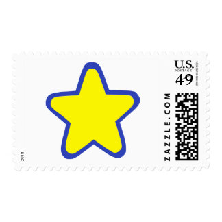 Colored Star Postage