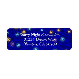 Colored Stars Etching Custom Return Address Label