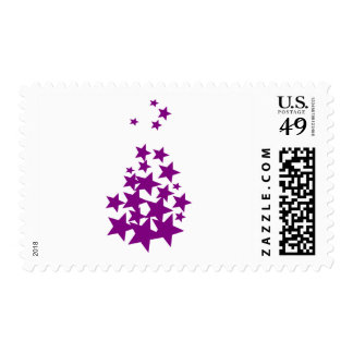 Colored Stars Postage Stamps