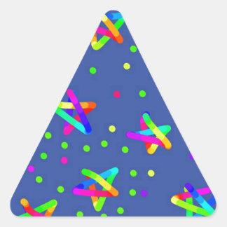 colored starts triangle sticker