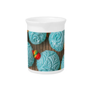colored stones drink pitcher