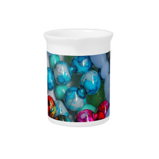colored stones pitcher