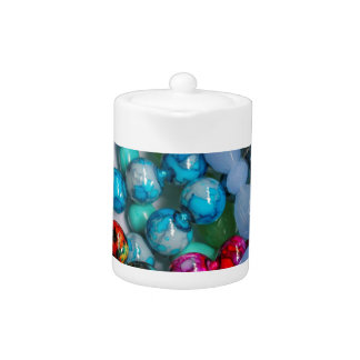 colored stones teapot