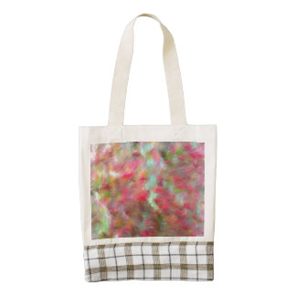 colored strange pattern zazzle HEART tote bag