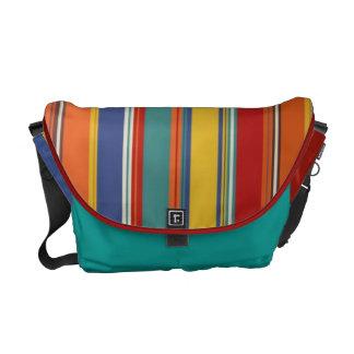 Colored Stripes Messenger Bag