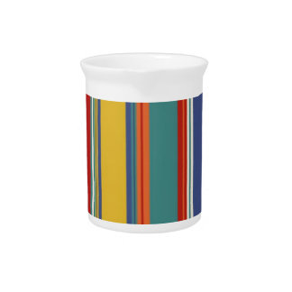 Colored Stripes Drink Pitchers