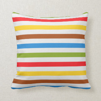 Colored Stripes Throw Pillow