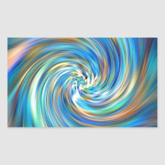 Colored Swirl Rectangular Sticker