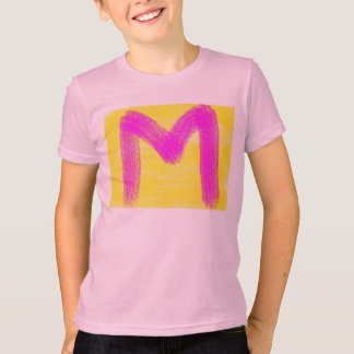 colored t-shirt describing your name M