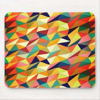 colored tangle in Recoleta Mouse Pad