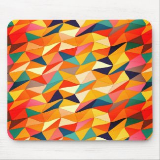 colored tangle in Sangria Mouse Pad