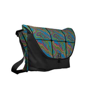 Colored Tapestry Messenger Bag