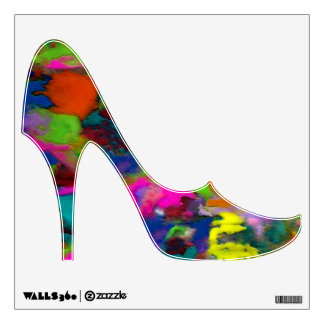 Colored Thoughts ~ Shoe Wall Decal 12x12