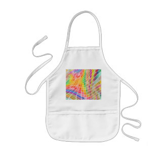 Colored Tiles in a Wavy Pattern Kids' Apron