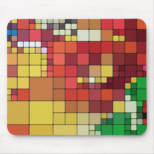 Colored Tiles Mouse Pad