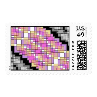 Colored Tiles Postage
