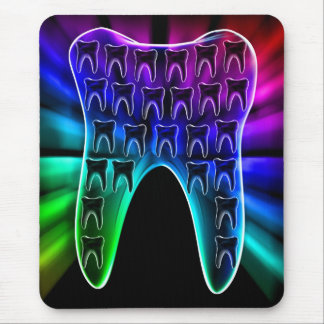 Colored Tooth Design Dentist Mousepad