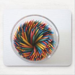 Colored Toothpicks Mousepad