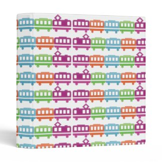 colored trains binder