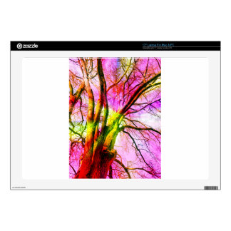 """colored tree 17"""" laptop skin"""