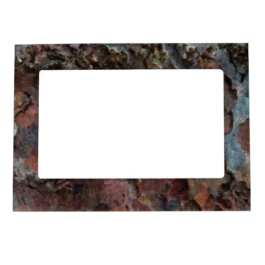 Colored Tree Bark Magnetic Photo Frame