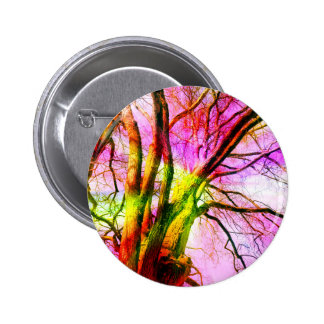 colored tree pinback button