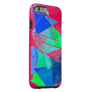 Colored Triangles over Red iPhone 6 case