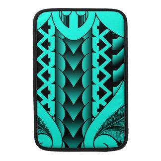 colored tribal maori tatau design with feathers MacBook air sleeves